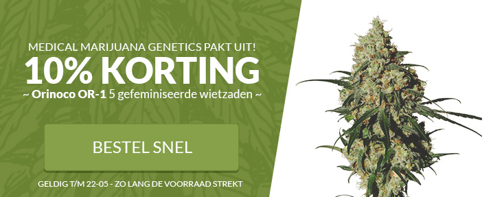 15% korting MM Genetics Orinoco