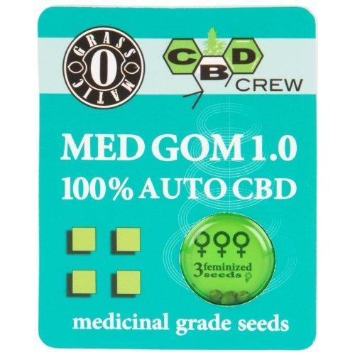 MED GOM 1.0 Autoflower (Grass O Matic / CBD Crew) 3 zaden Dutch Headshop